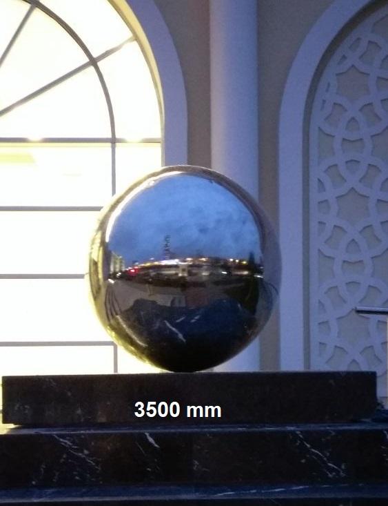 3500  mm Paslanmaz Çelik Parlak Küre 304 Kalite